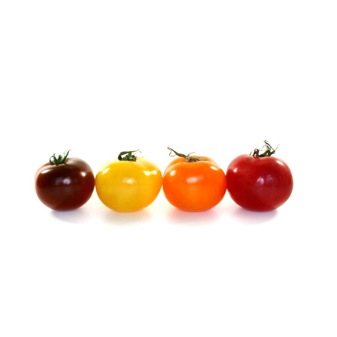 200 gr de tomate de colores y 1 rosa